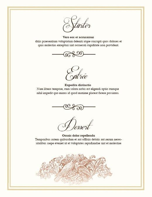 FREE Wedding Menu Design - Photoshop Templates | NextDayFlyers