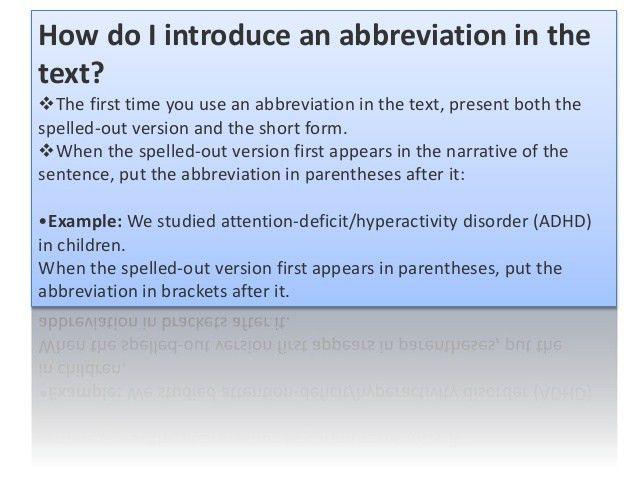 Abbrevations