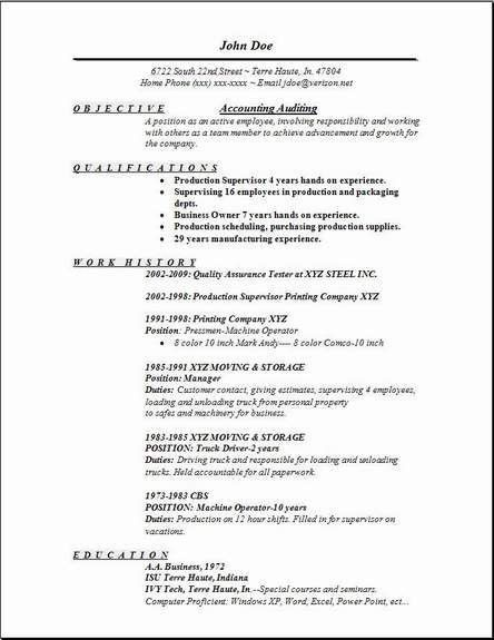 Download Sample Resume For Accounting Position ...