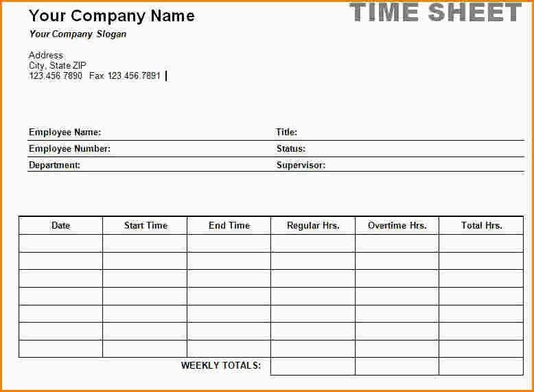 5+ word timesheet template | paradochart