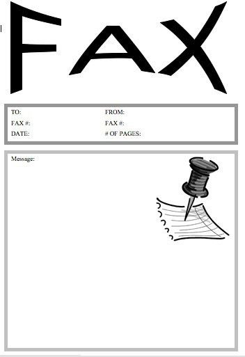 Pushpin Fax Cover Sheet at FreeFaxCoverSheets.net