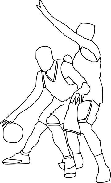 Basketball Offense And Defense clip art Free vector in Open office ...
