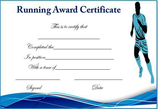 20+ Professional Running Certificates Templates : Free Download ...