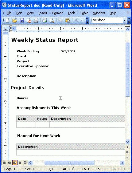 Building a Status Report Application with Visual Studio 2005 Tools ...
