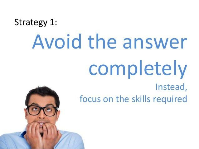 Strategy 2 Example: For example,