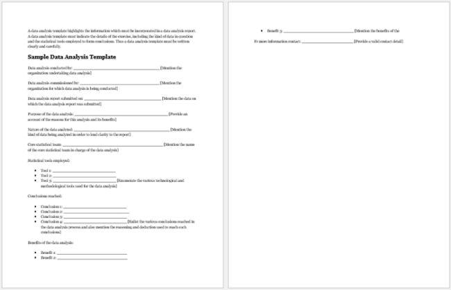 sample data analysis report
