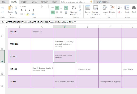 Weekly Task List Maker Template for Microsoft Excel