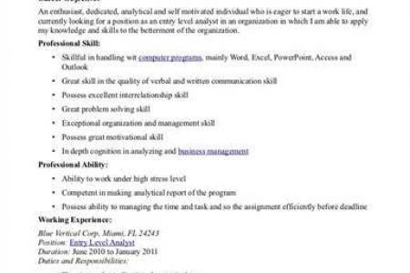 beginner resume sample. objectives for it resume beginner resume ...