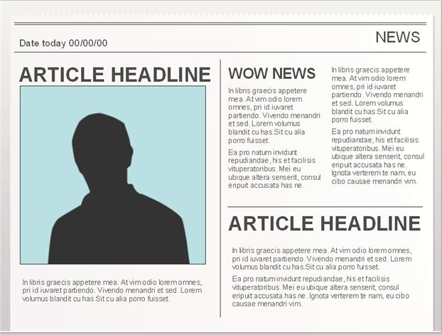 Easy to edit Google Doc editable Newspaper Template. To use, go to ...