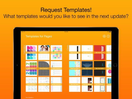 Templates for Pages (for iPad, iPhone, iPod touch) on the App Store