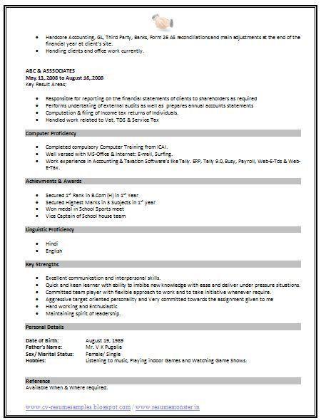 prissy ideas standard resume format 10 25 best ideas about ...