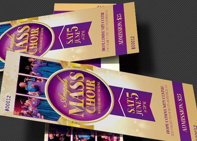 Mass Choir Concert Ticket Template | Inspiks Market