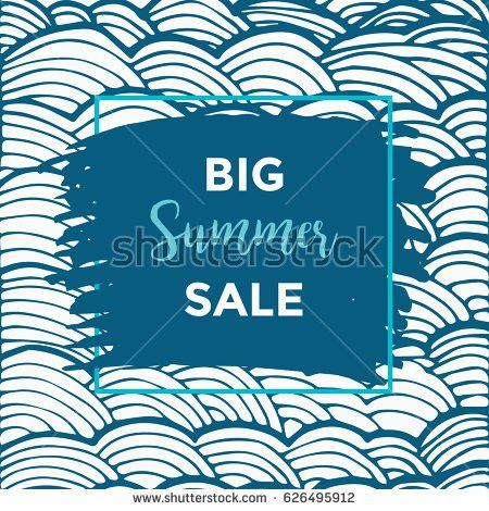 Summer Discount Cards Design Can Be Stock Vector 626495897 ...