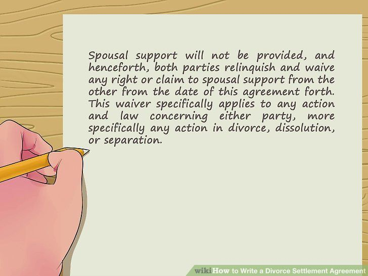 How to Write a Divorce Settlement Agreement (with Pictures)