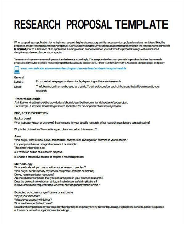 Project Proposal Templates - 8 Examples in Word, PDF