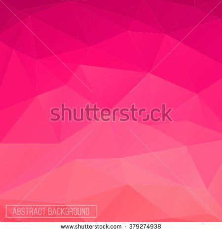 Pink Polygonal Abstract Background Design Element Stock Vector ...