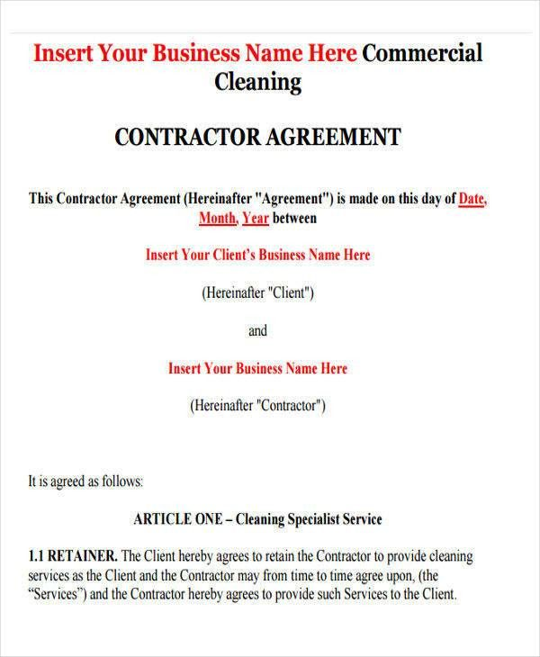 38 Contract Templates in PDF