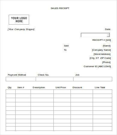 Sales Receipt Template - 10+ Free Word, PDF Documents Download ...