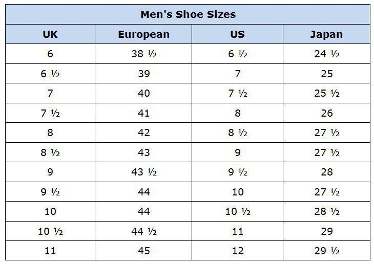 Clothing Size Conversion Charts