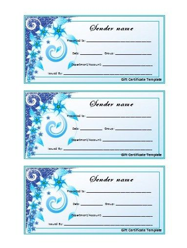 Free Gift Certificate Template - vnzgames