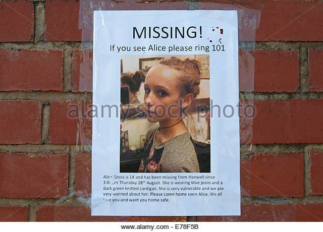Missing Person Poster Stock Photos & Missing Person Poster Stock ...