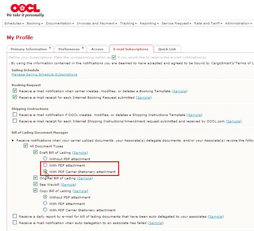 "OOCL - ""Click-To-Accept"" Draft Bill of Lading Feature Without Log ..."
