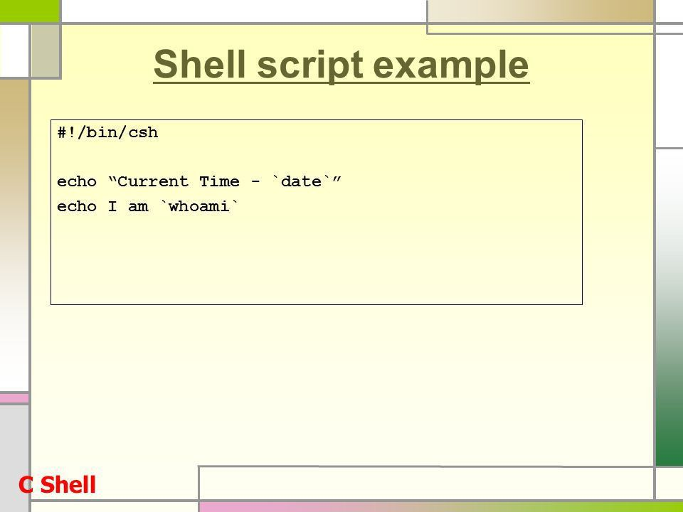 LINUX System : Lecture 6 Shell Programming - ppt download