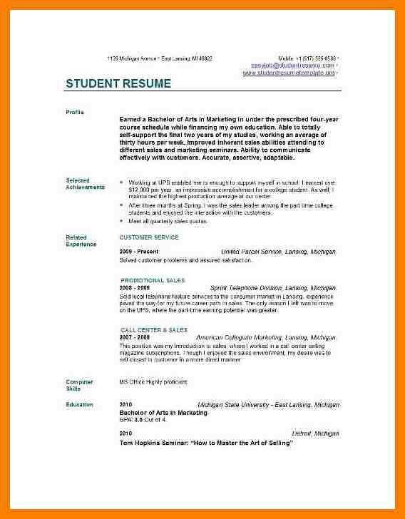 3+ sample resumes college students | packaging clerks