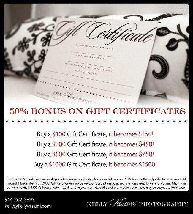88 best Gift certificate images on Pinterest   Gift vouchers ...