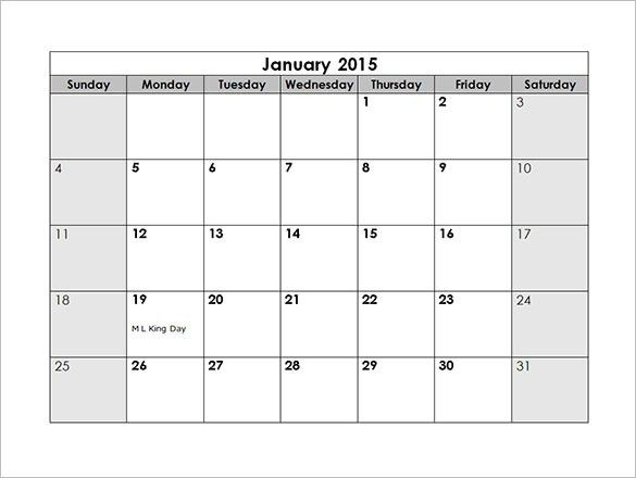 Monthly Schedule Template – 7+ Free Sample, Example Format ...
