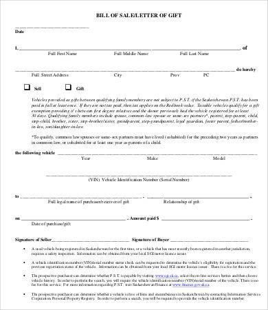 Free Printable Bill of Sale - 9+ Free PDF, Word Documents Download ...