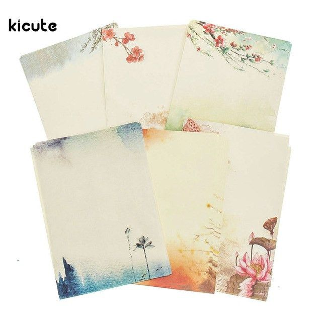 Aliexpress.com : Buy 8 Sheets/set Chinese Style Flower Ancient ...