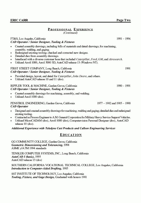 Cozy Sample Engineering Resume 15 Engineer Example - CV Resume Ideas