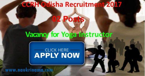 odisha yoga instructor jobs 2017