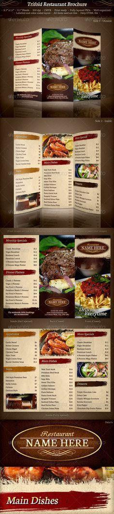 Restaurant Food Menu Template #design Download: http ...