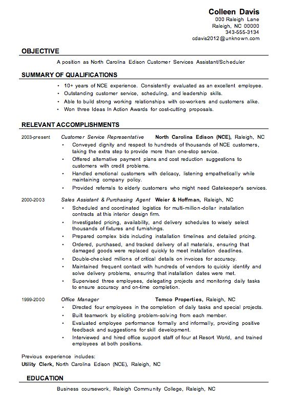 Customer Service Assistant Resume Template Sample Free Download ...