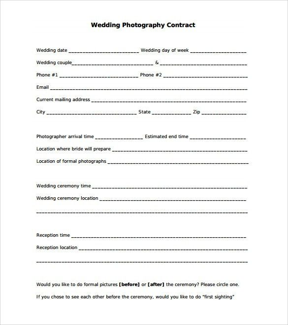 Great Sample Wedding Contract   14+ Documents In PDF, Word Throughout Free Printable Contracts