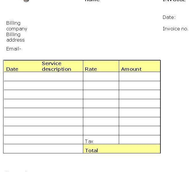 Invoices Sample. Hvac Invoice Sample 18 Free Hvac Invoice ...