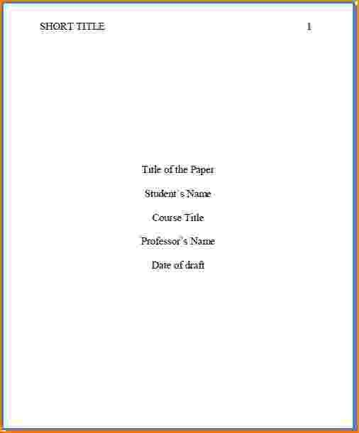 5+ how to do a cover page apa | bibliography format