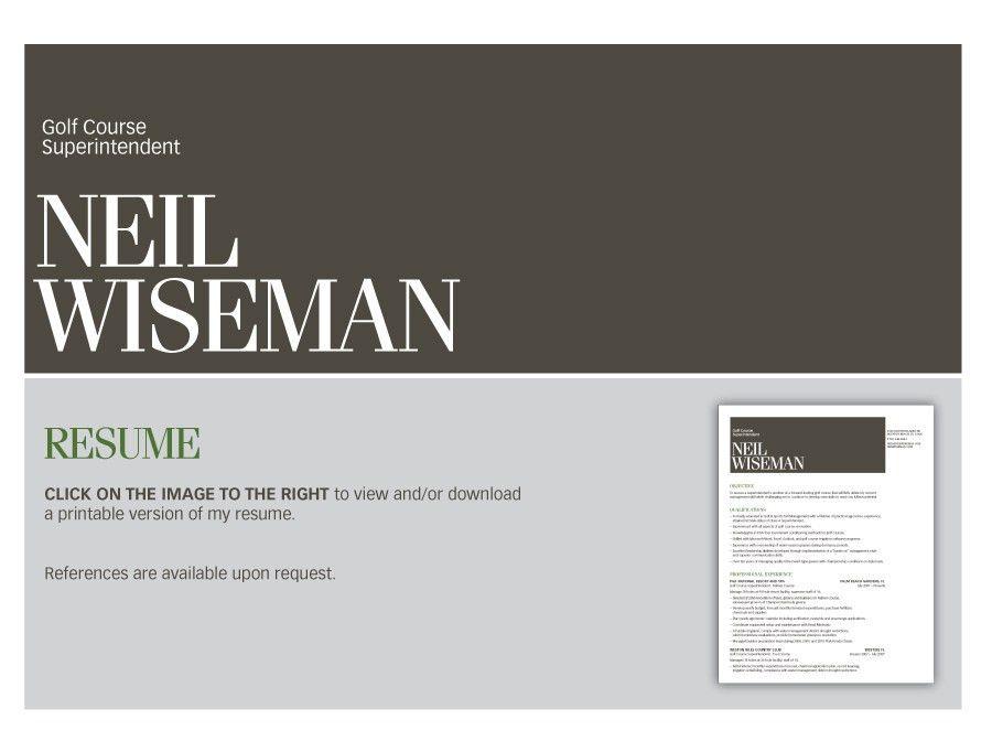 Neil Wiseman :: Golf Course Superintendent