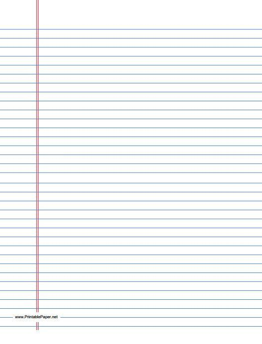 Lined Paper Template | cyberuse