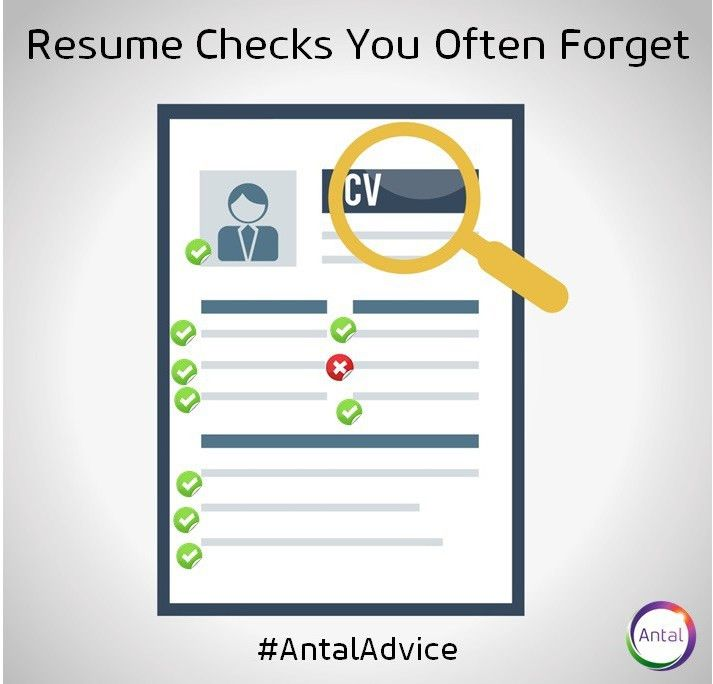 Resume Checks You Often Forget | Antal's India Blog