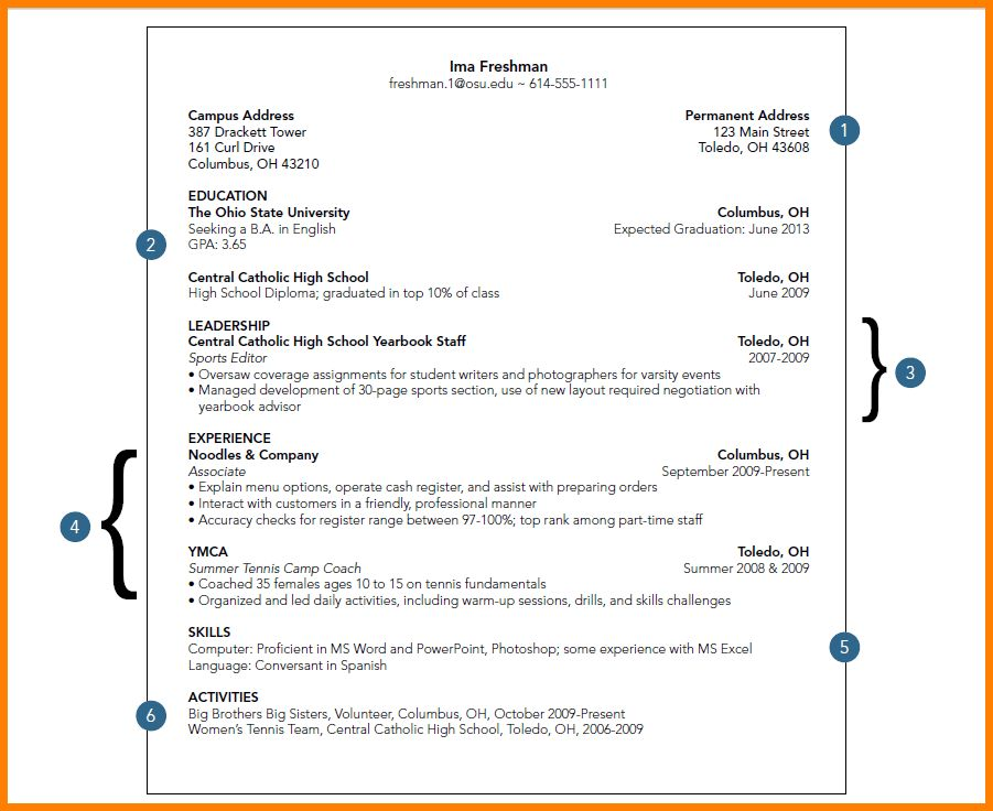 College Student Resume Sample - uxhandy.com