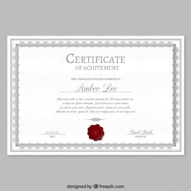 Elegant certificate template Vector | Free Download