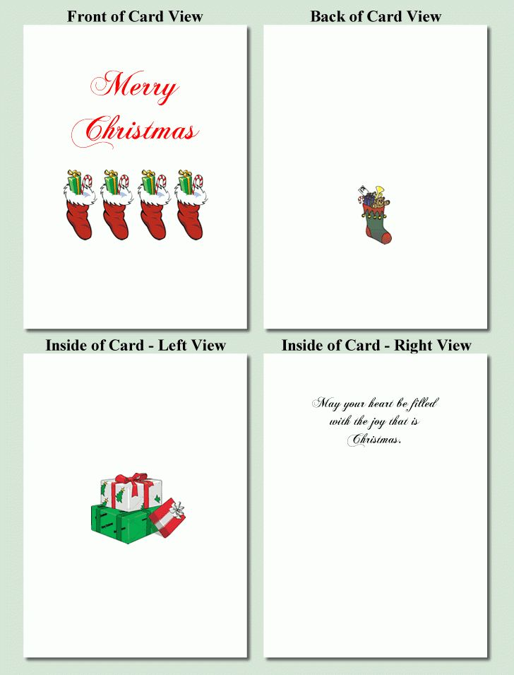 Christmas Card Templates To Print 2017 | Best Template Examples