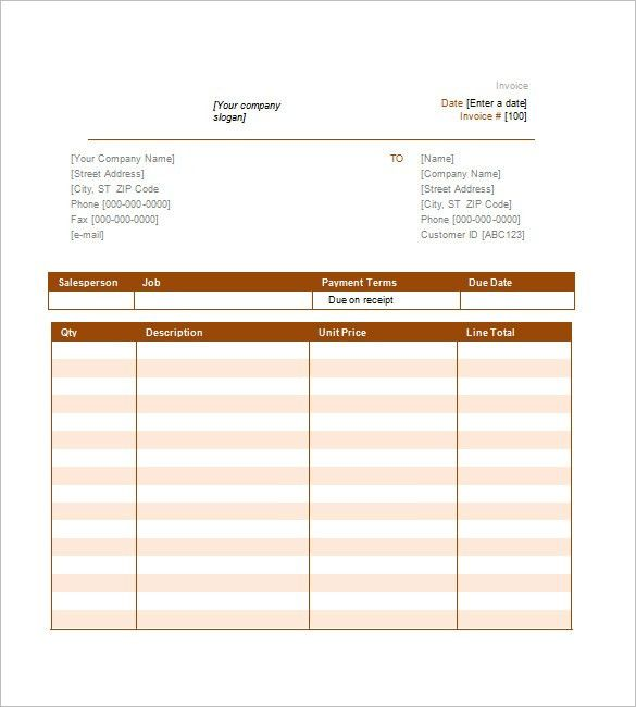 Service Invoice Template – 11+ Free Word, Excel, PDF Format ...