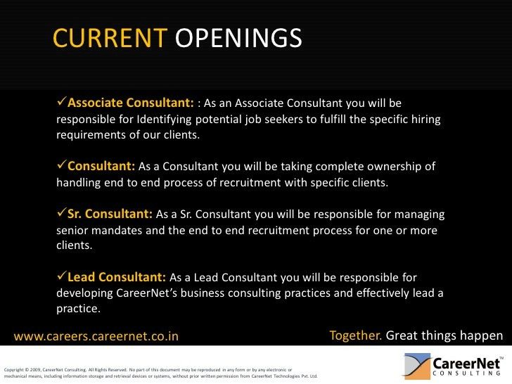 Careers At Career Net Consulting Indias Leading Recruitment Process O…