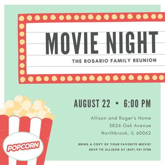 movie night invitation template free - Orax.info