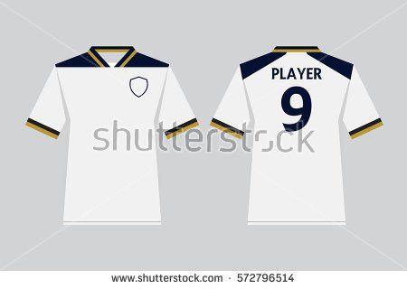 Set Soccer Kit Football Jersey Template Stock Vector 468589013 ...