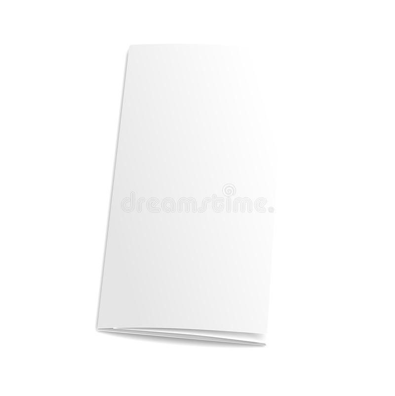 Blank Trifold Paper Brochure. On White Background Stock Vector ...